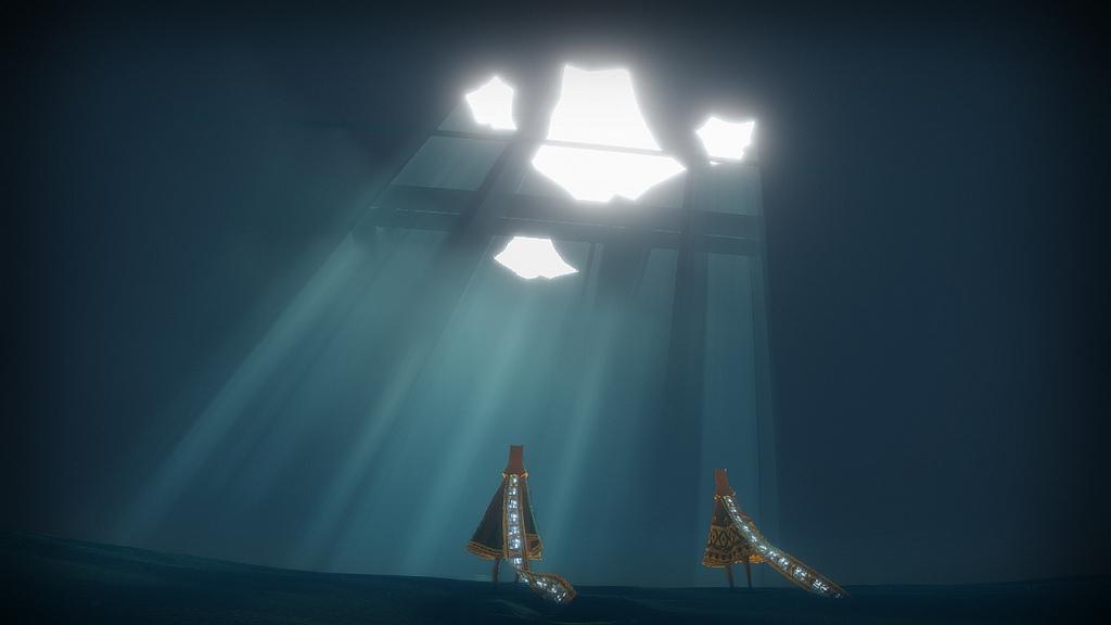 Journey game underground blue enviorment}
