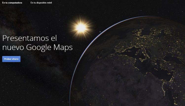 New Google Maps Beta