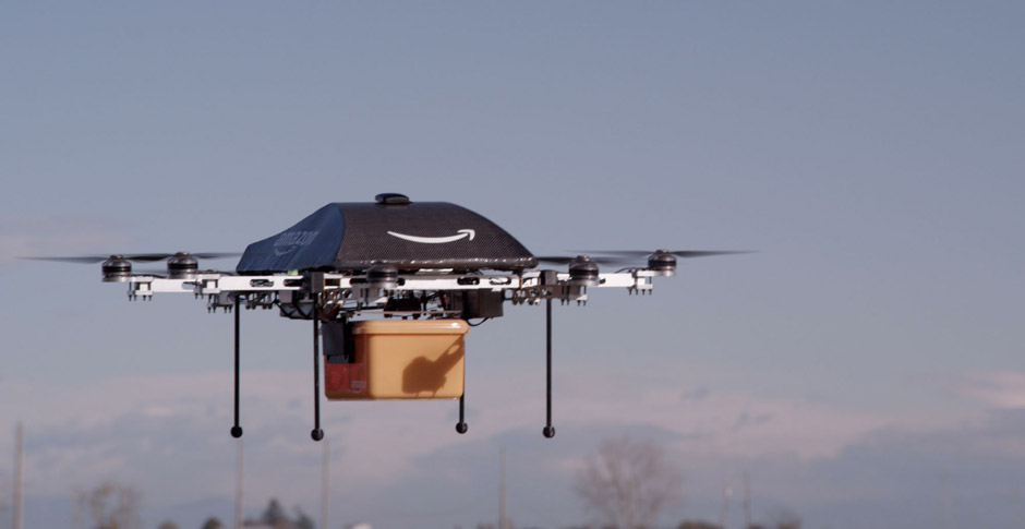 Amazon Prime Air Drone Flying