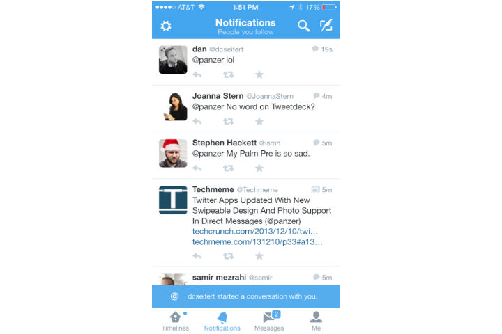 Twitter iOS Messages 2