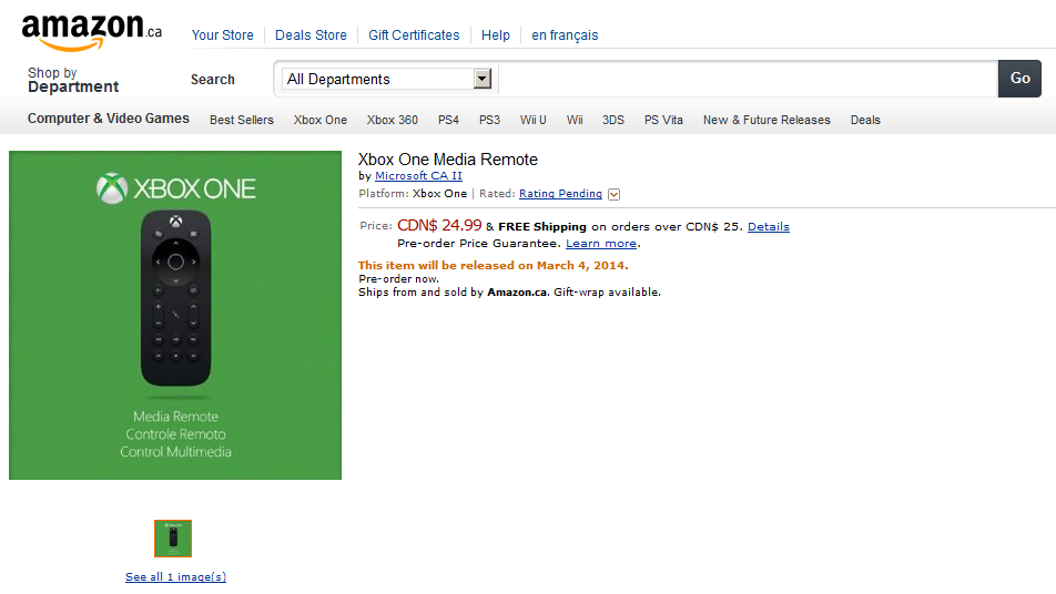 Amazon-Canada-Xbox-Remote