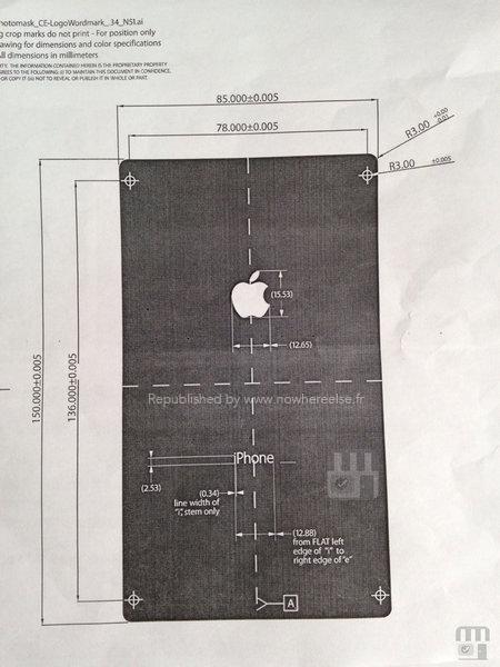 iPhone 6 Gran Tamaño Papel Esquematico