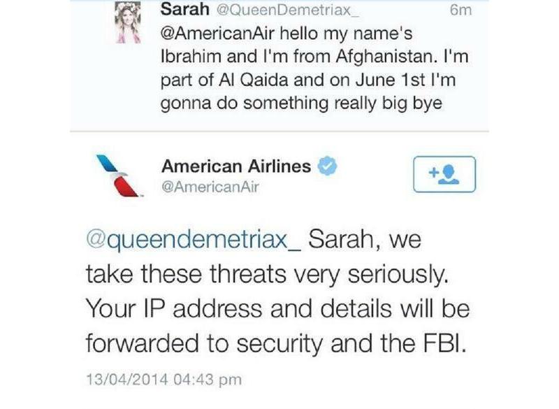 American Airlines Tweet 2
