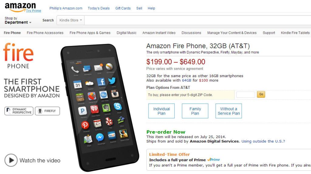 el smartphone de amazon fire phone especificaciones tec. Black Bedroom Furniture Sets. Home Design Ideas