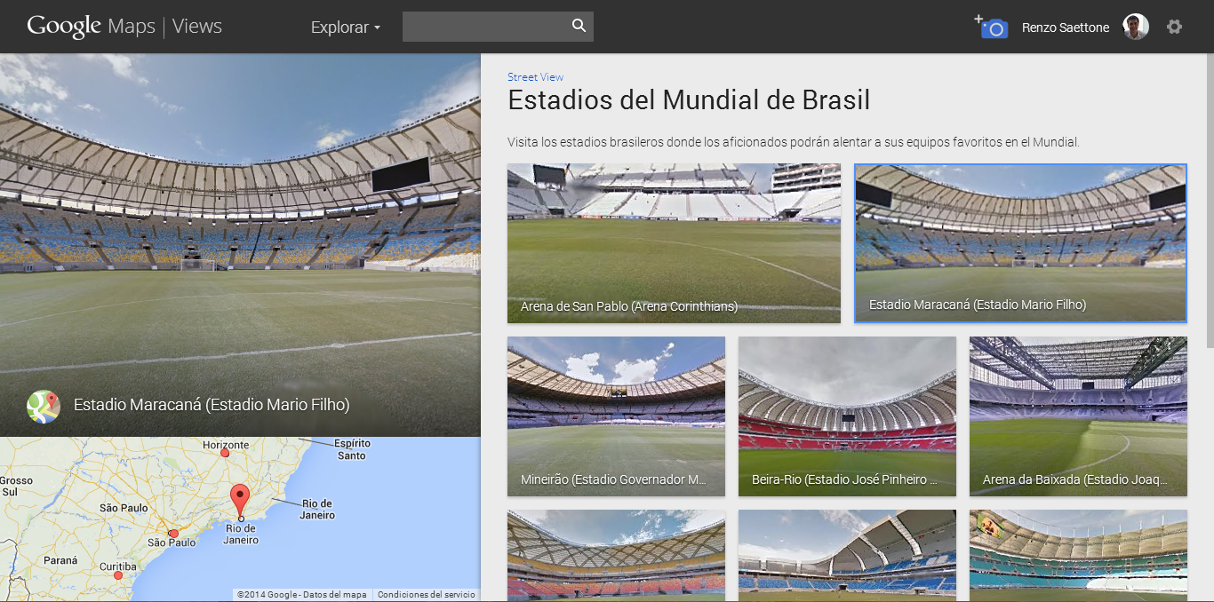 Google Maps Stadium Brazil 2014 (2)