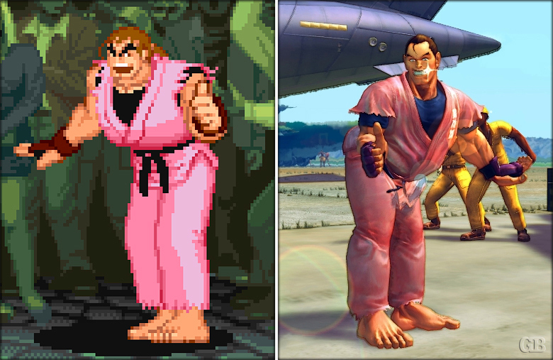 La evolución de los gráficos (Street Fighter)