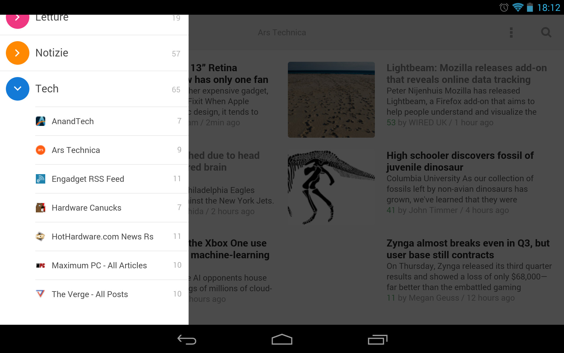 Feedly Android Tablet