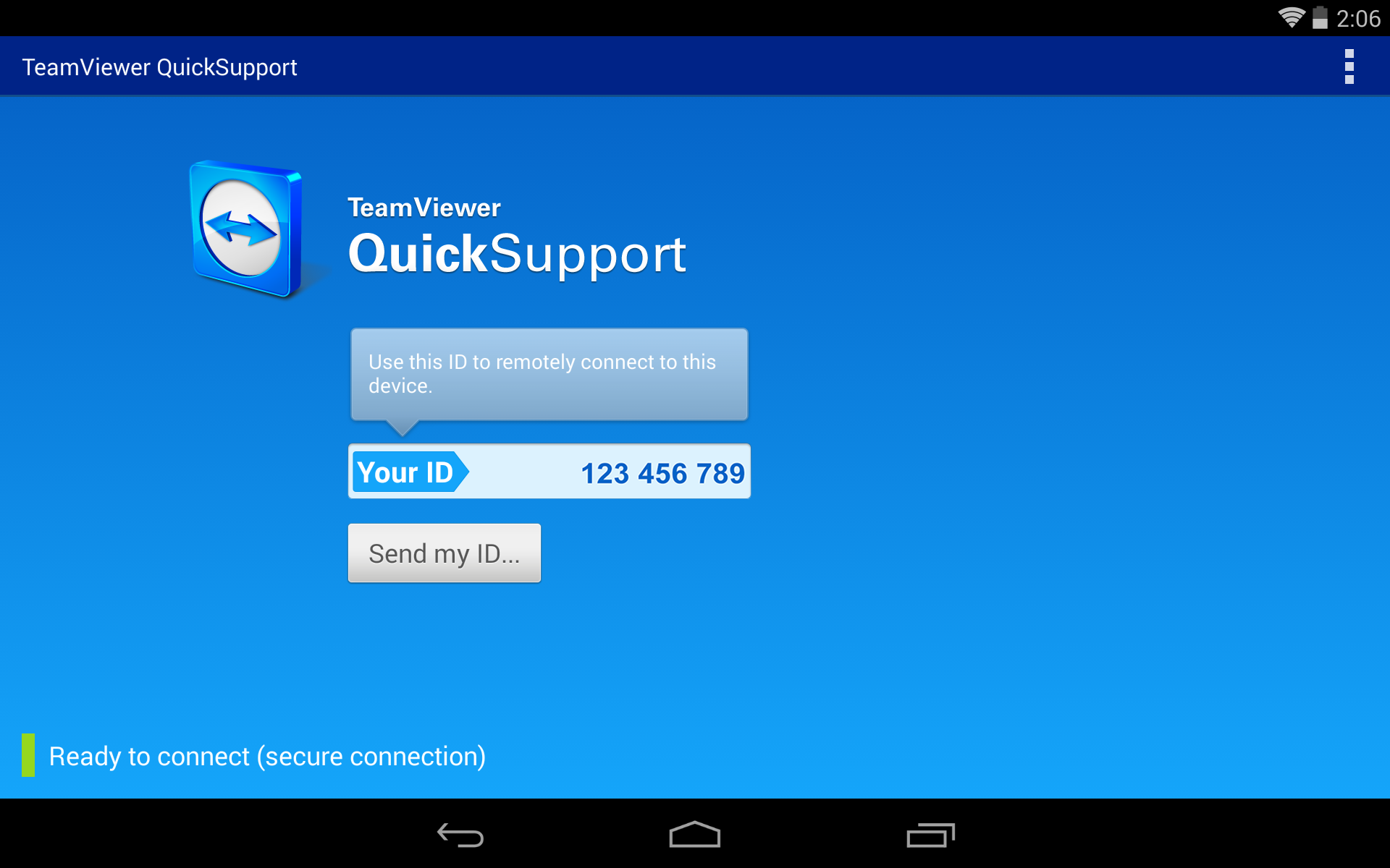 TeamViewer Android Tablet