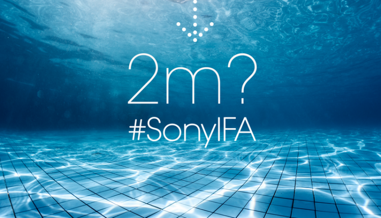 Sony IFA 2014 Water Resistance