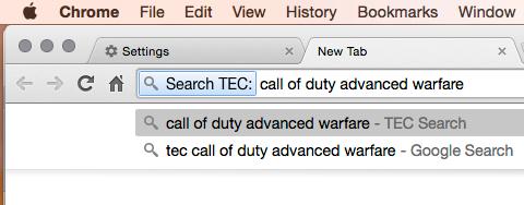 Chrome TEC Search