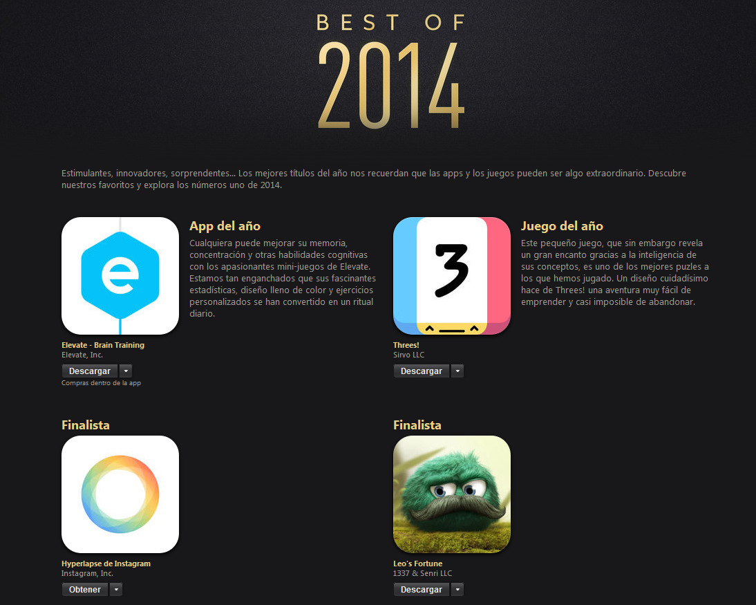 Las Mejores Apps Y Juegos Del 2014 Segun Apple Tec
