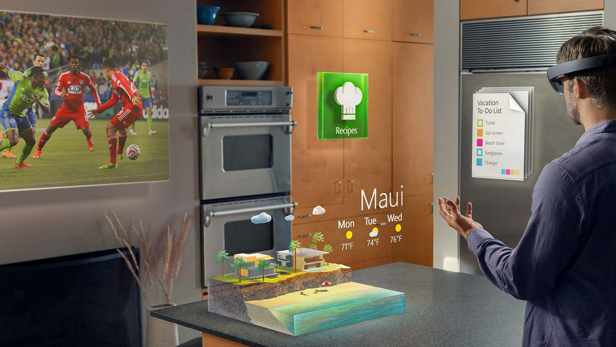 Microsoft holoLens Visor realidad aumentada Windows 10 (4)