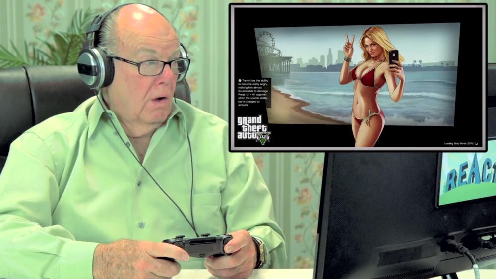 Old People React GTA V 001