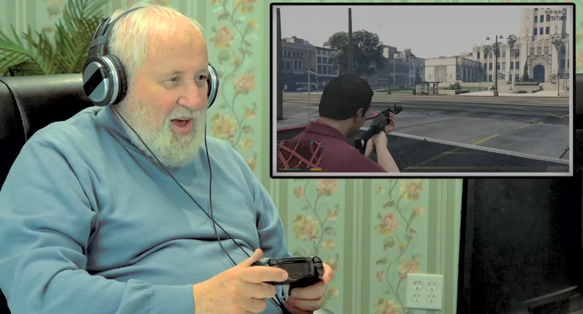 Old People React GTA V 005