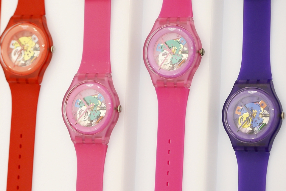 File picture of Swatch watches