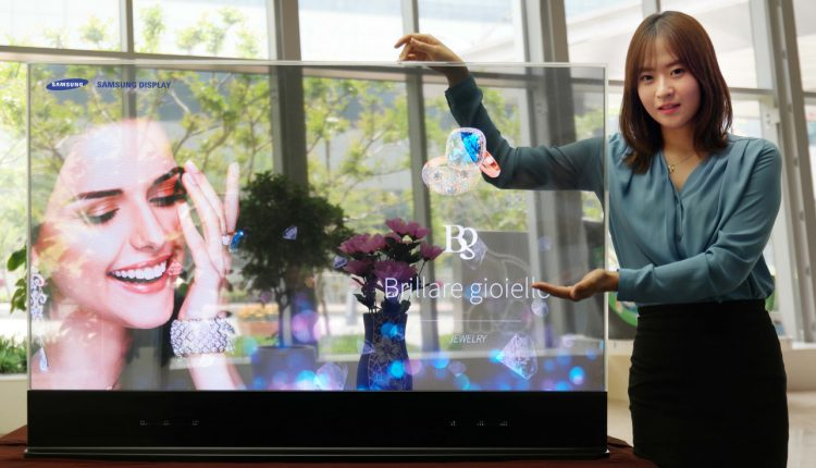 Samsung pantalla espejo invisible tansparente oLED (2)
