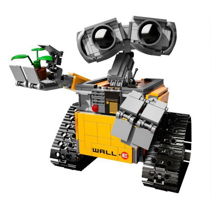 este es el lego de wall e el famoso robot de la pel cula de pixar juguetes geek tec. Black Bedroom Furniture Sets. Home Design Ideas