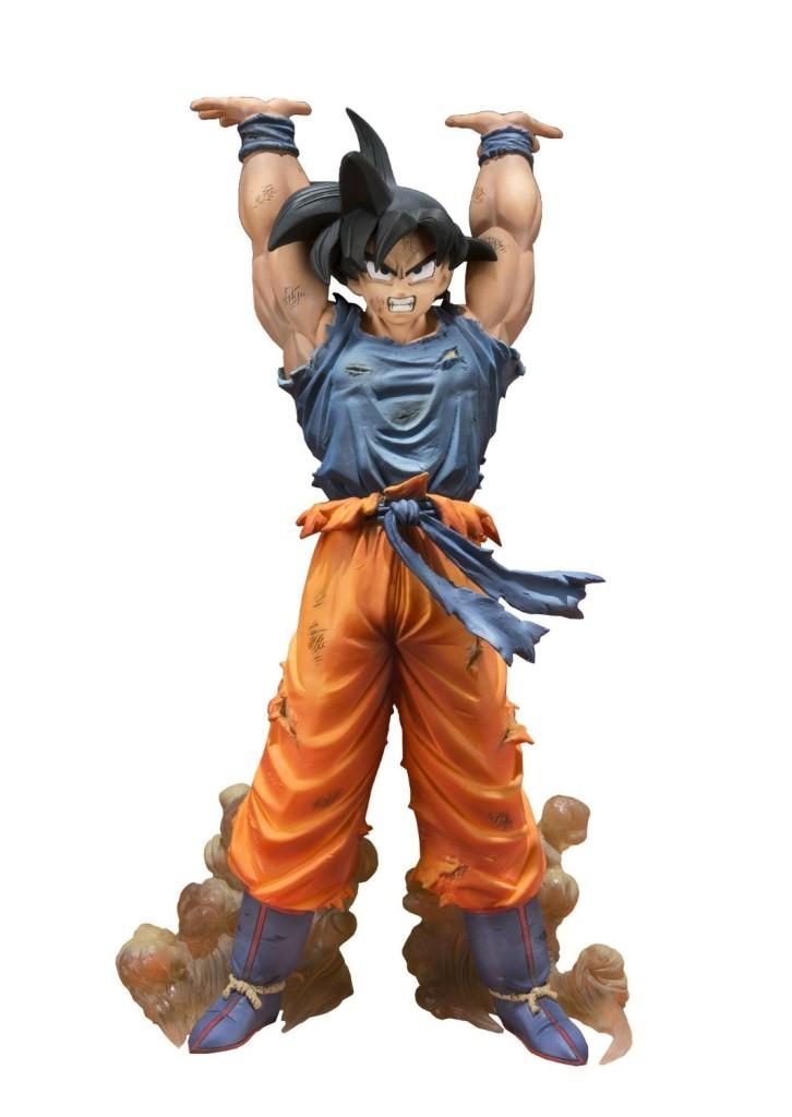Una lámpara con Goku haciendo una genkidama de Dragon Ball
