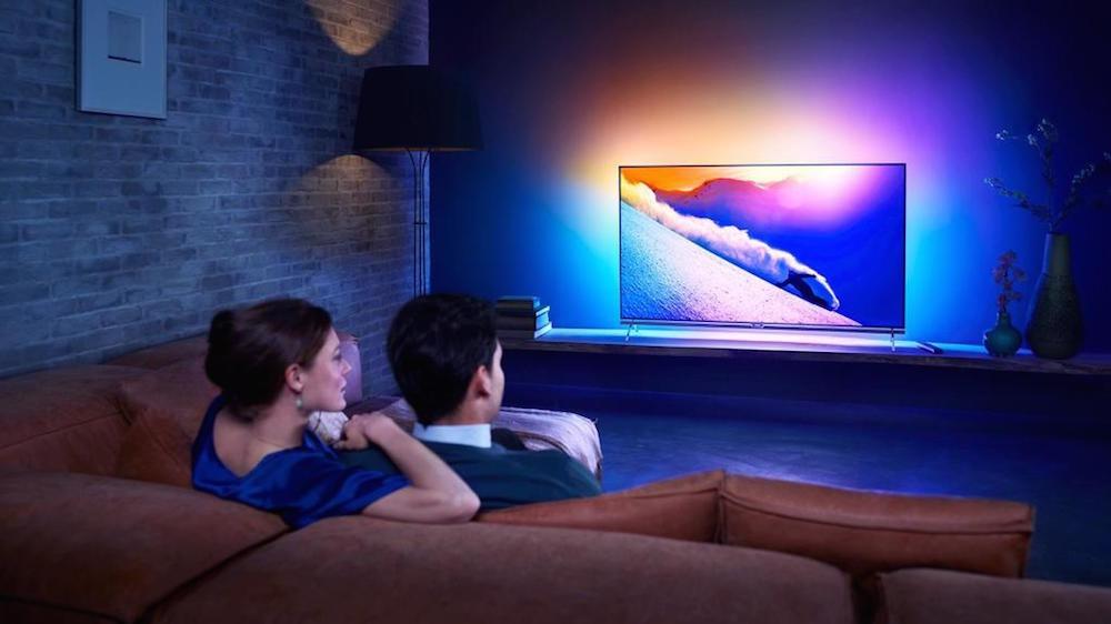 Ambilux el nuevo televisor de philips que usa 9 - Muebles de salon con luz led ...