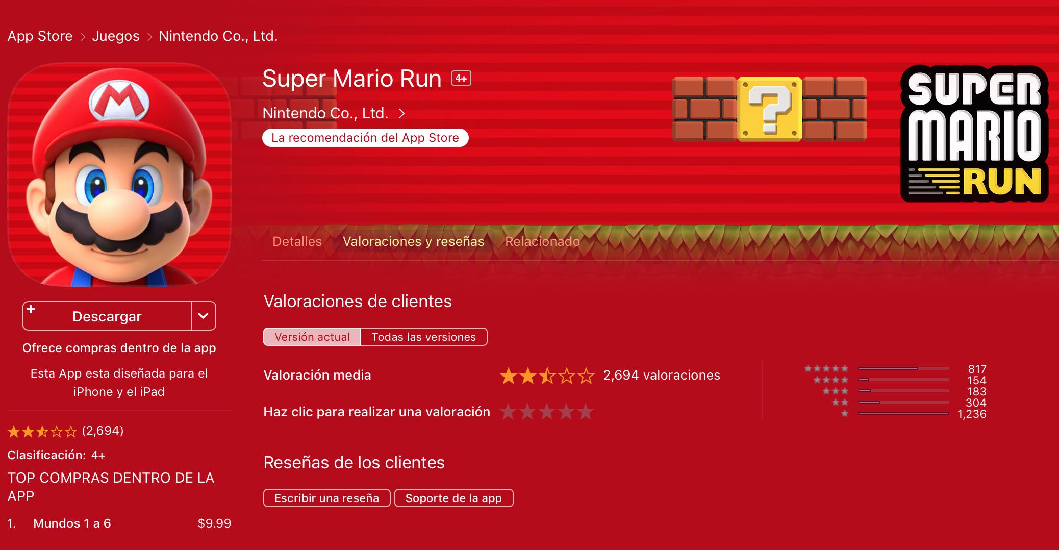 Mario reviews