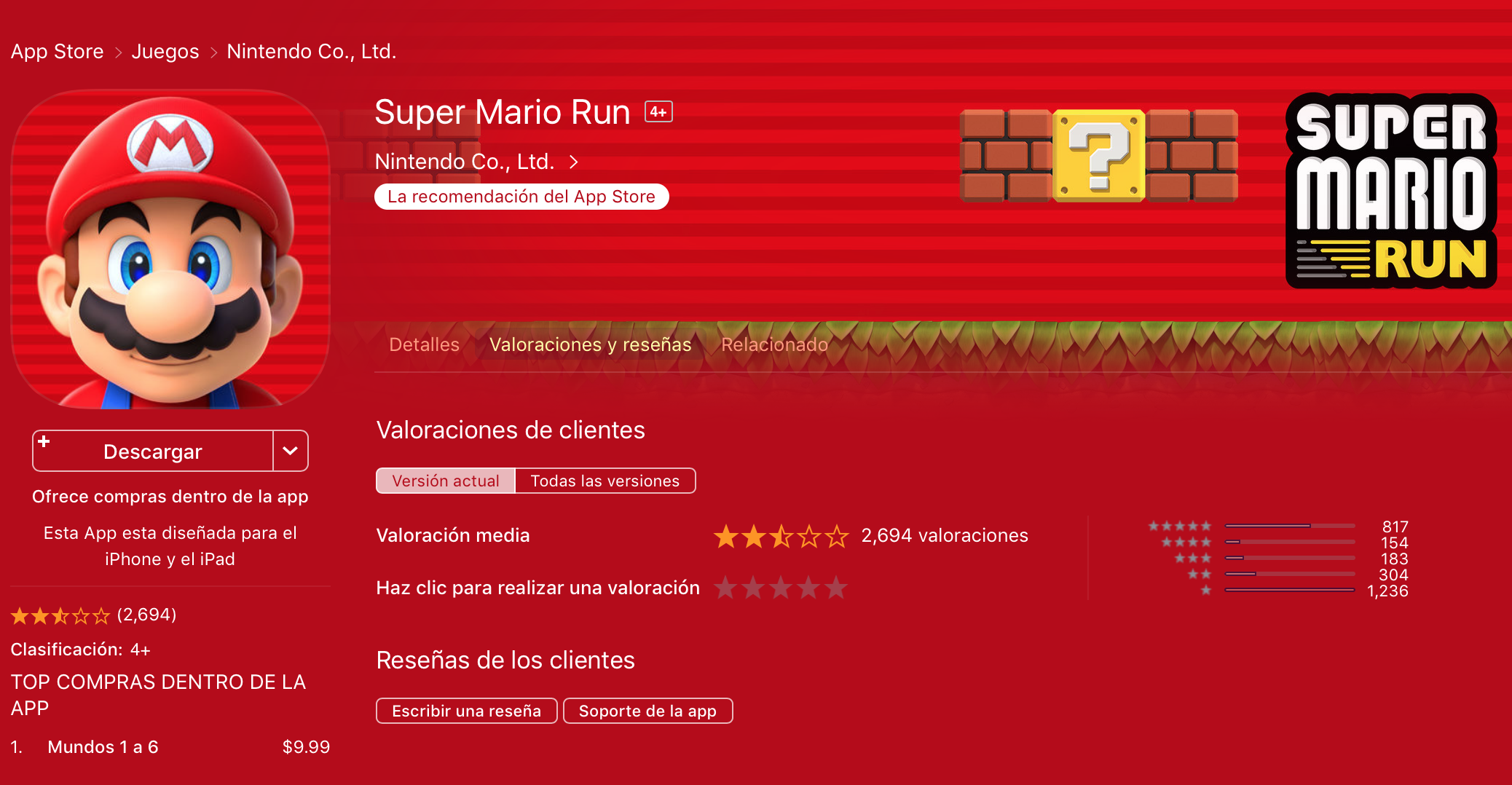 Mario reviews