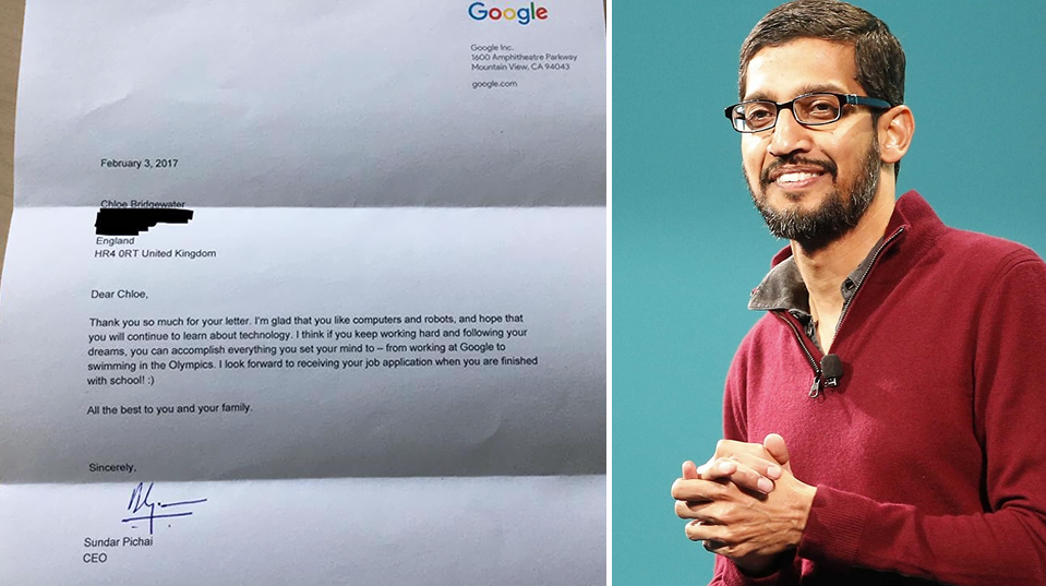 carta niña google