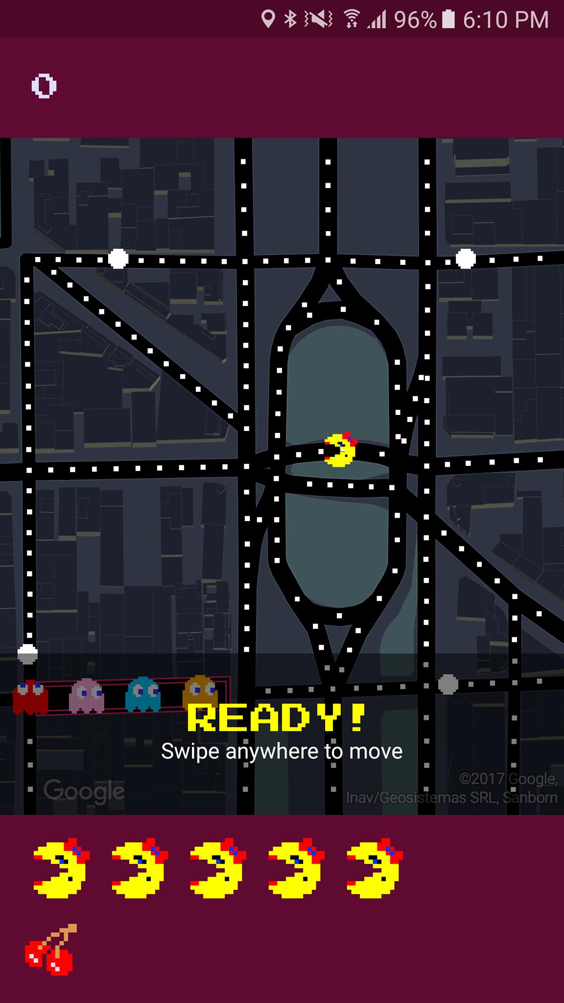 Pac man google maps2