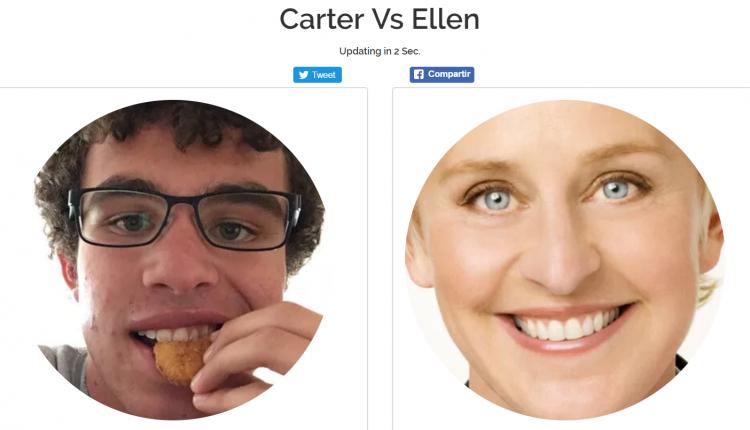 Carter vs Ellen Twitter
