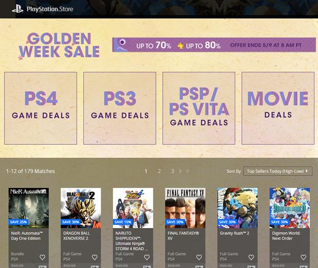 juegos golden week playstation