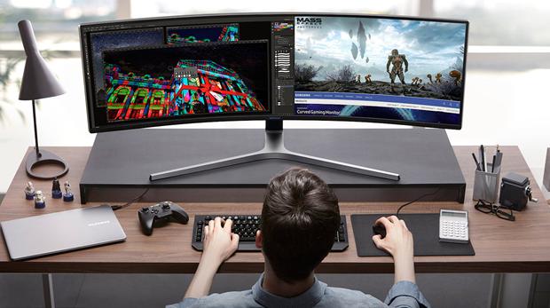 Este Monitor Samsung Tiene 49 Pulgadas Y Es Ultra