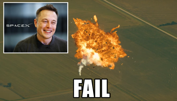elon musk rocket fail 3