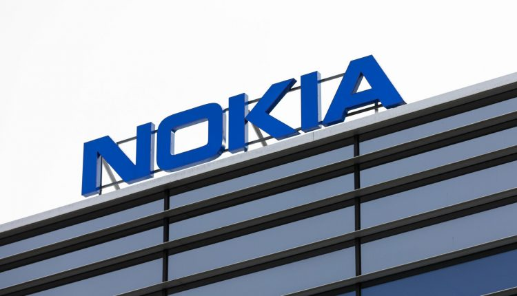 Nokia brand name on top of an office building
