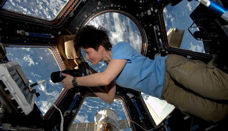 Sam Cristoforetti in collegamento da spazio con Fabio Fazio